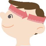 頭のサイズの測り方